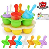 Popsicle Molds Set, 14 Cavities Baby Food Freezer Trays Reusable Ice Cream Mold BPA-free Silicone...