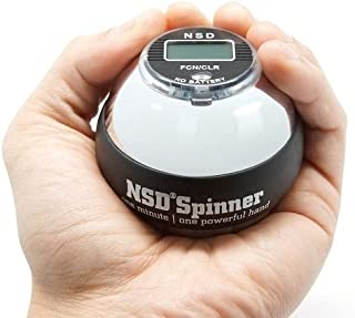 NSD Power Winner's Precision Sterling Spinner Gyroscopic Wrist and Forearm Exerciser with Digital Speedometer, and Heavyweight Zinc Rotor and Stainless Steel Shell