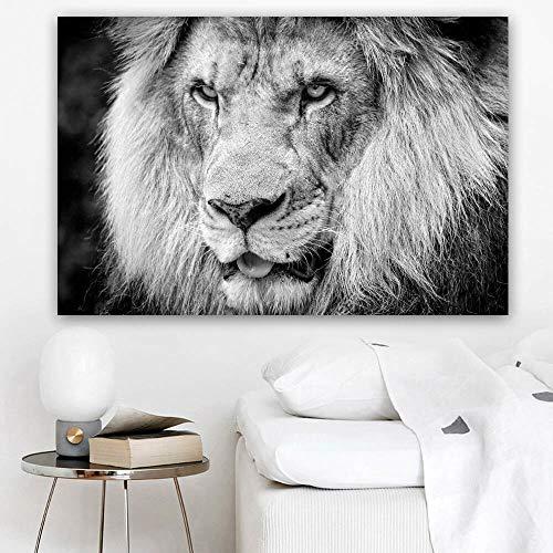 KWzEQ Leinwanddrucke Löwe für Plakate und Bilder Kunstwerk Wandkunst Dekor für Wohnzimmer50x75cmRahmenlose Malerei