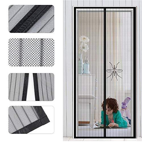 Preisvergleich Produktbild Magnet Fliegengitter Tür Insektenschutz,  Fliegen Gitter Türvorhang Magnetic Moskito Netz,  Wohnzimmertür,  Schiebetür,  Ohne Bohren,  von VOYAGO (100 x 220 CM)
