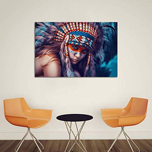 Leinwand Drucken Inkjet Indische Schönheit Modernen Wand Kunst Bild Familie Dekoration Gemälde Kunstdruck Fotoleinwand,Noframe,80x100cm