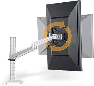 """FOONEE soporte de computadora para monitor LCD de un solo brazo, soporte de monitor VESA ajustable con rotación de 360°, aluminio resistente, para monitor de computadora de 17""""-27"""" de 75 x 75 mm o agujeros de montaje en la parte posterior de 100 x 100 mm"""