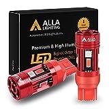 Alla Lighting T20 Base 7440 7443 CANBUS LED Bulbs Red Turn Signal Lights, Plug-n-Play 7441 7440LL 7443LL CAN Bus Error Free 12V, No-Hyper-flash
