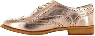 Wanted Shoes Womens Babe Oxford, Rose Gold, 6 M US