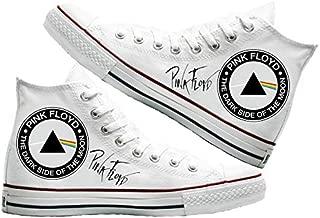 Art T-Shirt -Pink Floyd Baskılı Unisex Canvas Ayakkabı
