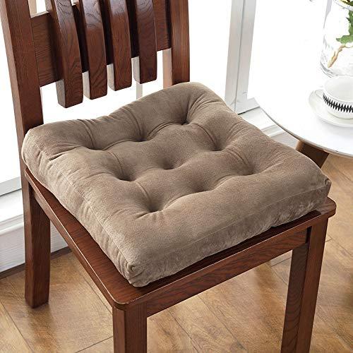 Almohadillas de asiento para silla de comedor, silla de oficina, transpirable, elástica, cojín para silla embarazada, trasero grueso, gris cuadrado