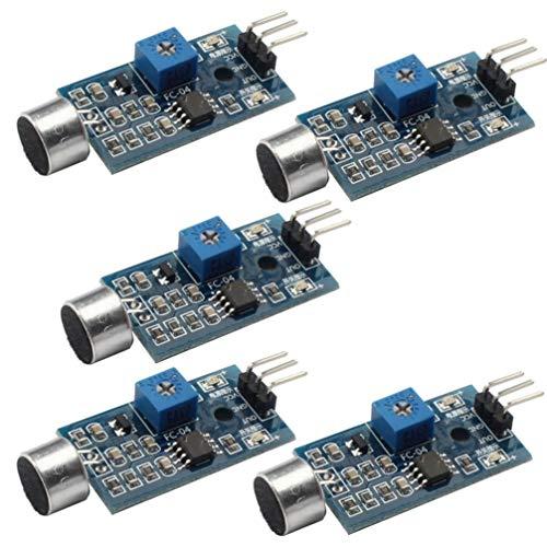 DOITOOL 5 stücke sound stimme sensor voice player sound erkennung modul licht aktiviert sound aktiviert schalter sensor modul für türöffner eintritt alarm