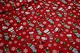 mollipolli-Stoffe Baumwollstoff Weihnachten Bunte Strümpfe