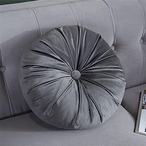LH-Footstools Pouf Rotondo Cuscino Tatami Nordico Cuscino da Pavimento in Velluto Leggero di Lusso Cuscino per Divano Cuscino futon Addensato - 38X38cm,#4