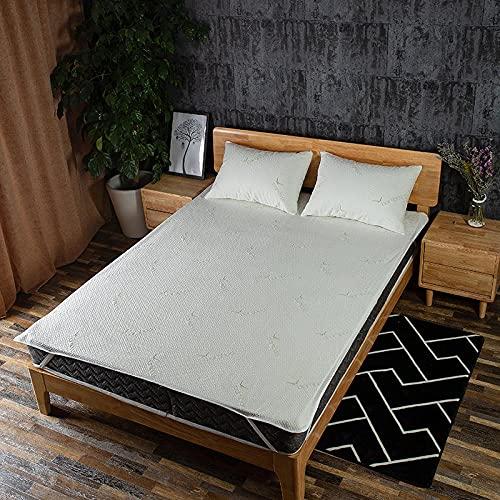 CYYyang Funda de colchón Anti chinches, Transpirable, Sábana Impermeable de Color Puro antideslizante-150x200cm