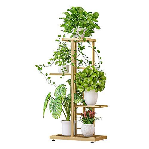 Galapara Metal Plant Stand Estantes de Flores, Estante de exhibición de 4 Niveles Estante para...