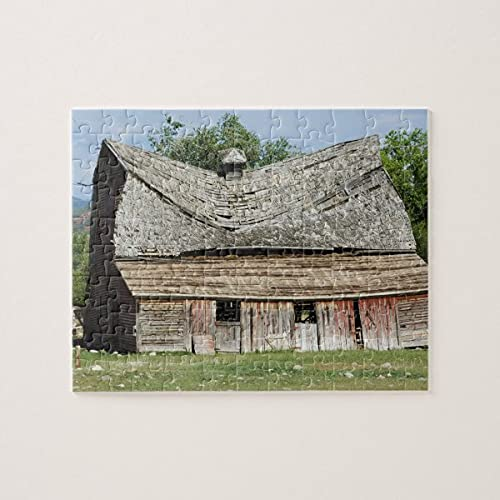 Collapsing Barn Jigsaw Puzzles 1000 Pieces Challenging and Educational Puzzles Games Toys, Abstract Painting Puzzle for Kids Adults