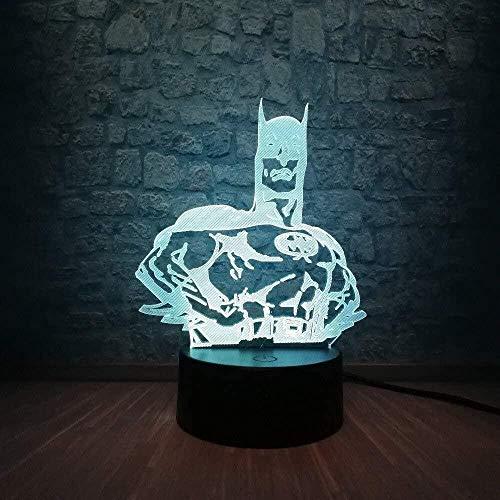 Figure 3D Lumière Multi-Couleur Veilleuse USB Enfants Cadeau Cadeau Bébé LED Lampe de Table Enfants s Chambre Décoration AA Batterie