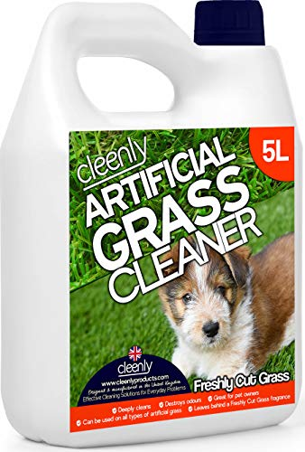 Cleenly Artificial Grass Cleaner for Dogs - Freshly Cut Grass Fragrance - 5 Litres - Eliminates Urine/Dog Wee Odours