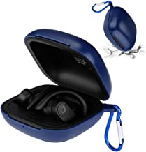 GEVO for Powerbeats Pro Case,Anti-Lost Shockproof Easy Carrying Protective Beats Case,Dust Guard 360° Protection Hard PC Skin Cover Case with Carabiner for 2019 Newest Powerbeats Pro (Blue)