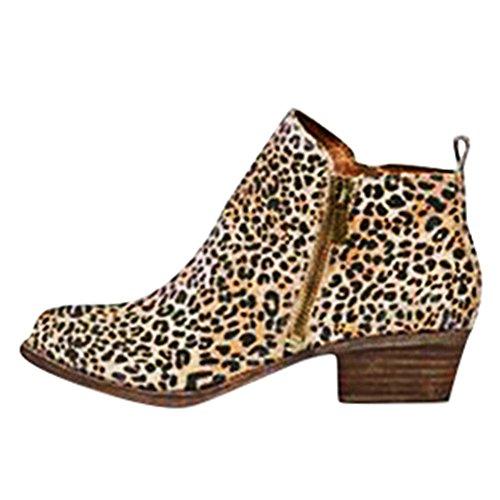 Minetom Chelsea Rain Boot Regenstiefelette Gummistiefelette Regenstiefel Gummistiefel Reitstiefelette Stiefel Schwarz Leopard EU 38