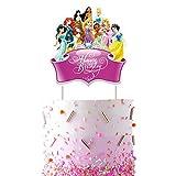 Decorations for Disney Princess Cake Topper Birthday Party Supplies Decor, All Princess