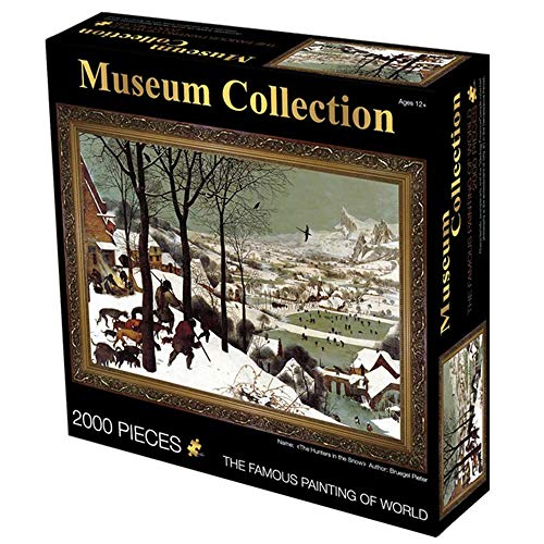 Puzzels Voor Grown Ups, 2000 Piece Jigsaw Puzzel Voor Volwassenen Fun Family Verminderde Druk Puzzel Met Olieverf Theme (Hunter in The Snow)