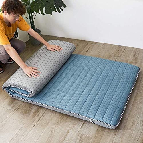 YDYL-LI Tatami Floor Mat,Traditional Japanese Futon Mattress Bed Folding Pad Tatami Mat Dorm Mattress Topper For Family,Hotel,Picnic,Camping Light Blue 120x200cm(47x79inch)