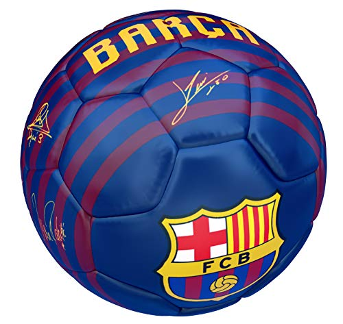 2018 2019 Stadium Home FC Barcelona Fußball Signatures Mattblau