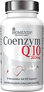 BIOMENTA COENZIMA Q10 200mg | 90 vegano Coenzima Q10 Cápsulas | por tres meses