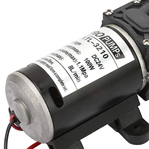 Bomba de agua de diafragma, bomba de agua eléctrica de la bomba de diafragma, 100W 24V para el hogar