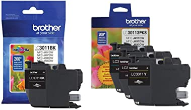 $38 » Brother Genuine LC3011BK, LC30113PKS Standard Yield Black/Cyan/Magenta/Yellow Ink Cartridge Set, LC3011
