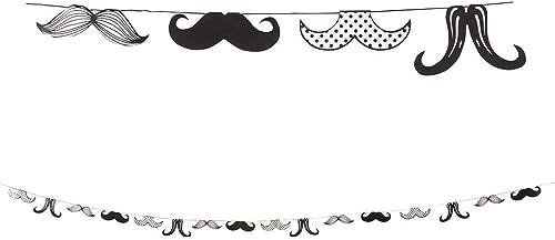 Moustache Party Guirlande en papier (chaque)