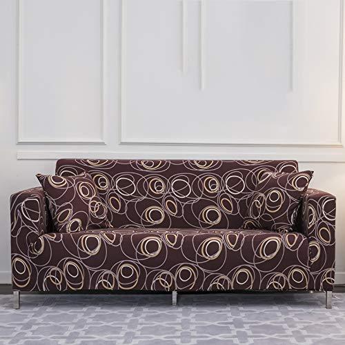 Xin Hai Yuan Fundas elásticas para sofá de sala de estar y sofá, toalla antideslizante, funda para sofá de 1/2/3/4 plazas, C, 2 plazas