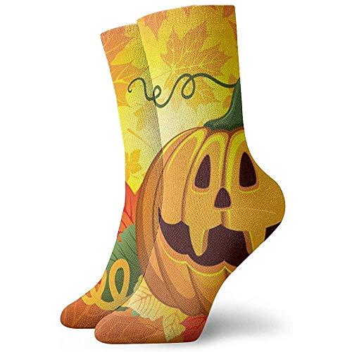 Be-ryl Calcetines Unisex Feliz Cumpleaños de Halloween Primo Calcetines Deportivos Senderismo Trekking 30cm