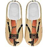 Linomo Vintage Egipto Egipto Anubis Horus Pantuflas para mujer, para la casa, para interior, multicolor, 43/44 EU