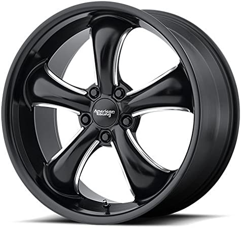 18x9//6x139.7mm, +18mm offset American Racing AR910 Gloss Black Wheel with Machined Face