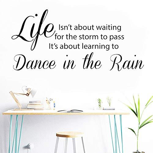 La vida no se trata de esperar a que pase la tormenta calcomanías de pared para decoración de la casa, sala de estar, dormitorio, calcomanía artística, A4 42x89cm
