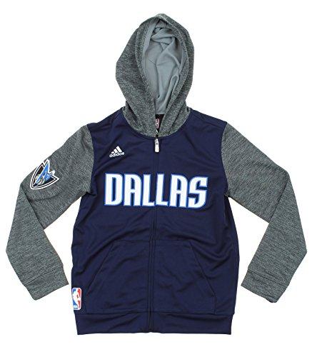adidas NBA Big Boys Youth (8-18) Pregame Sudadera con capucha, opciones de equipo, Atlético, 14-16, Dallas Mavericks