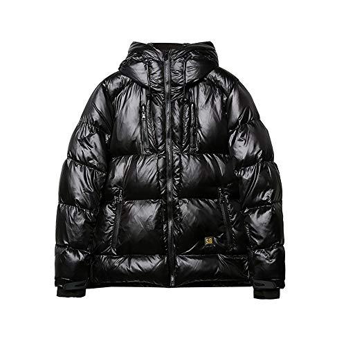 Herren Wintermantel Warme Freizeitjacke Glänzende Mode Mit Kapuze Daunenjacken Für Junge Leute Ideal Bei Kaltem Wetter,XL