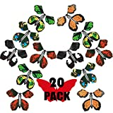 B bangcool Fairy Flying Butterfly Gift Cards, Flying Butterfly Rubber Band Powered Wind up Butterfly Toy Great Surprise Gift for Party Playing Toys