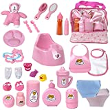 Baby Doll Feeding Changing Potty Toy Bag Set 28...