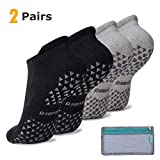 Hospital Slipper Socks for Yoga Pilates, Barre, Dance, Low Cut, Anti Slip Socks for Workout, Diabetic