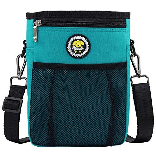 Futterbeutel Hunde wasserdicht Hunde Leckerlie Beutel zur Futteraufbewahrung Futtertasche für Hundetraining – inklusive Karabiner(Blau)