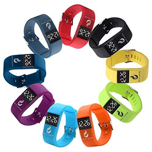 Fashion Digital LED Armbanduhr,Fansport Digital Uhren Sportuhr Mode justierbare LED Digitaluhr Armbanduhr für Unisex Outdoor Sportuhr Elektronische