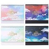 SUSHUN 2020 Dreamy Colorful Desktop Stand Bobina de Papel Calendario Memo Agenda Diaria Planificador de Mesa Organizador de Agenda Anual
