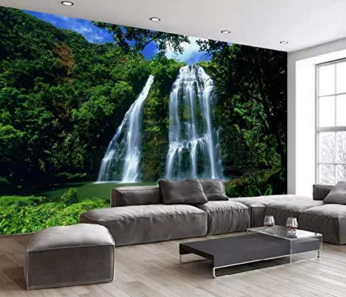 Custom Any Size Landscape Cascada Mural 3D Landscape Background Wall (2) Etiqueta de la pared Decoración para el hogar Wallpaper Mural