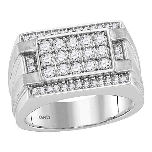 Diamond2Deal Herren Unisex Damen - 14 Kt 14 Karat (585) Gelbgold Rund Getöntes Weiß/Top Cape (K) Diamant
