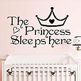 wukongsun Princesse Mignonne Sommeil Applique Enfant Bébé Chambre Décor Fille...