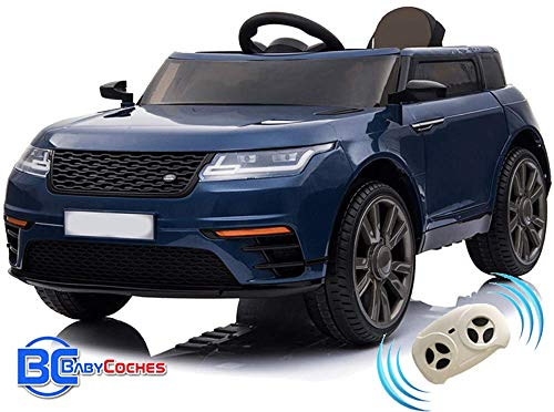 BC BABY COCHES Urban SUV Coche eléctrico para niñas y niños con batería 12v y Mando teledirigido ó Control Remoto para Padres (Azul)