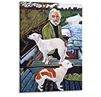 Goodfellas Man in Boat with Dogs Movie Canvas Art Poster and Wall Art Picture Print Modern Family Bedroom Decor Posters -60x80cm No Frame
