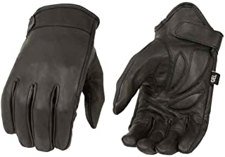 Milwaukee Leather Men's Premium Leather Short Cruiser Gloves, Black MG7510 (M)