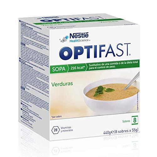 OPTIFAST Sopa de Verduras - Sustitutivo de comida, 8 sobres de 55g