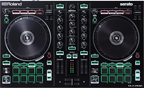 Roland DJ Controller, BLACK, Two-Channel, Four-Deck with Serato Pro (DJ-202)