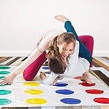 Jeu Twister: Tapis Plus Grand, Tapis De Sol Déformé Classic Funny Moves, Tapis De Jeu Twister Avec Des Taches Colorées Train De Flexibilité, Jouets Amusants De Jeu De Fête
